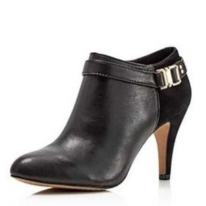 Vince Camuto Women Vamp Buckle Pointed Toe Booties